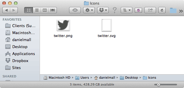 Two file in Finder: an SVG and a PNG