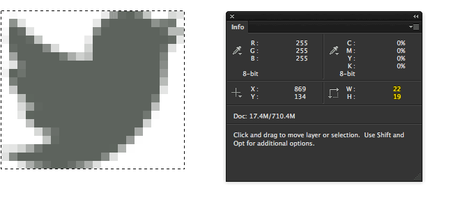 Measuring dimensions in Photoshop